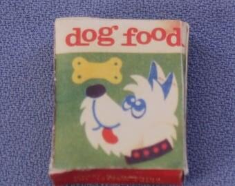 Vintage Barbie, Skipper, and Mod Jamie Box of Dog Food, Near Mint