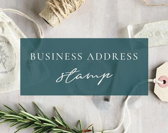 Custom Business Address Stamp | Return Address Stamp - Business Logo Address - Custom Logo Stamp - Personalised Address