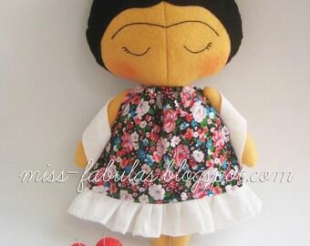 Ready to ship FRIDA KAHLO Rag doll tilda sweetheart Ragdoll handmade felt Women artists