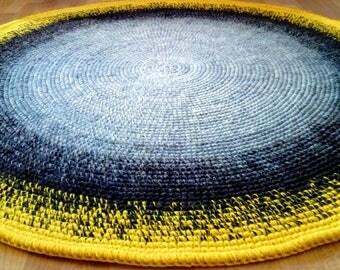 Round rug, 47'' (120 cm)/Rugs/Rug/Area Rugs/Floor Rugs/Large Rugs/Handmade Rug/Carpet/Wool Rug