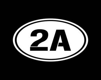 2nd Amendment Decal,Oval 2A Car Decal,Pro Gun Decals,Gun Decal,Gun Owner Decal,Oval 2nd Amendment Vinyl Decal,Bumper,Window,Bike,Yeti,Cooler