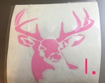 A deer decal for yeti cup