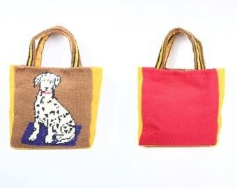1960's Dalmatian Dog Carpet Tote Bag