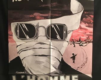 Original 1980's The Invisible Man ReRelease Giant French Movie Poster, Claude Rains, H.G. Wells, James Whale, Horror