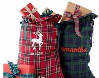 Wholesale Santa Sack Blanks. Plaid Santa Sacks. New Design. Price for Bulk Order. Quantity of 10, 15 or 20 SALE