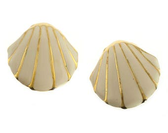 Gold Plated Seashell Earrings