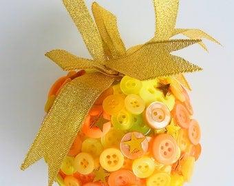 Orange flower girl gift, bridesmaid gift, gift for sister, gift for daughter, gift for her, thank you gift, wedding keepsake, Christmas gift