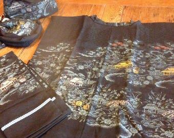 Japanese Kimono Vest Set