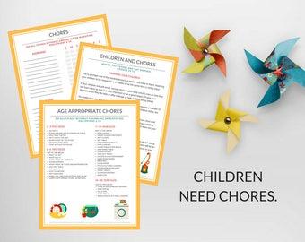 PDF: Chore Chart Bundle Kit | Chores for Kids | Printable Chore Charts