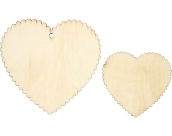 Wooden Hearts Pack 12 Pieces