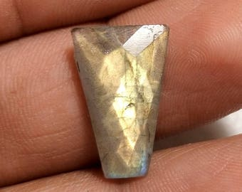50% OFF - Faceted Labradorite Gemstone 19x12x5 mm (T-108)