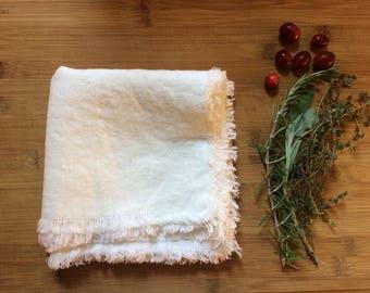 Linen Fluffy Napkins, eco friendly linen napkin, gift for her gift for him, gift for mom, christmas gift for teacher
