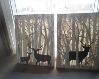 Deer in woods set