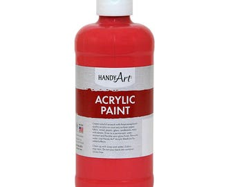 Acrylic Paint, 16 oz, Shades of Red, Certified Non Toxic