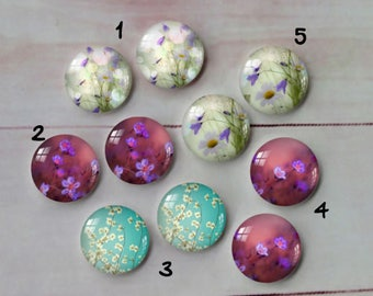 Earring glass cabochons 12mm