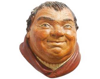 Friar Tuck wall plaque - Legend Products head wall figure - Robin Hood character