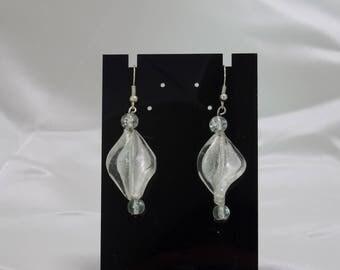 Earring leaf bead, glass bead
