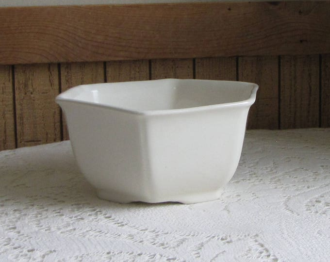 Small White Planter Hexagon Shaped Vintage Indoor Planters and Pots Succulents and Plants