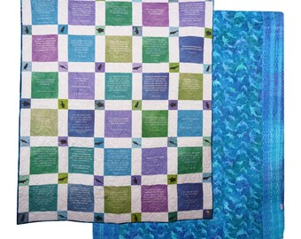 Handmade quilts in the USA customized with your message