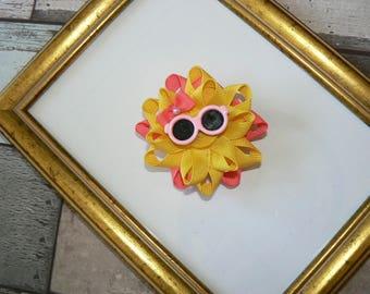 Miss Sunshine hair clip