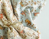 Animal on the Tree Cotton Fabric by Yard - 2 Color Selection