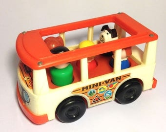 ON SALE Vintage Fisher Price bus
