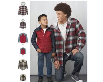 Simplicity Sewing Pattern 8475 Men's and Boy's Shirt Jacket