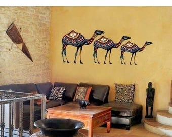 20% OFF Summer Sale Ethnic Camels wall decal, deco, sticker, mural, vinyl wall art