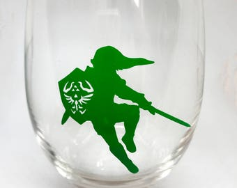 LOZ Link Glass/Mug ~ Legend of Zelda ~ Nintendo