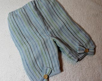 Baby boy or girl, lined with decorative knots, pants size 3 months