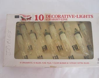Vintage Icicle Christmas String Lights