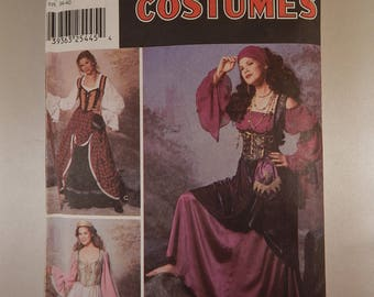 Victorian Era Steampunk Gown Costume Pattern Craft Sewing Halloween Pattern Mccalls 6097 Adult Size A 6 8 10 12  Like New