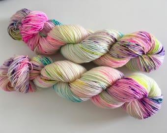 Rave Hand Dyed SW BFL/ Nylon Sock Yarn