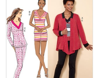 Butterick Pattern B6528 Misses' Knit Jacket, Top, Shorts and Pants