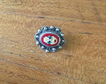Vintage Millefiore Pin Brooch
