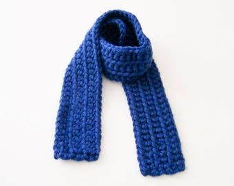 Royal Blue Child's Scarf, Children's Scarf, Toddler Scarf, Kid's Blue Scarf