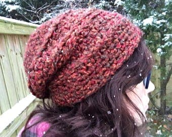 Rustic Slouchy Winter Hat