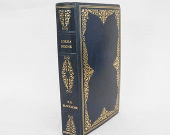 Vintage Book 'Lorna Doone' by R.D. Blackmore - Decorative Book with Gilded Binding - Romantic Novel, Literature -Decorative Binding