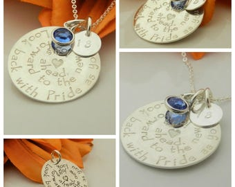 Teacher Retirement gifts, Sterling silver Hand stamped Jewelry, Custom retirement gift for women