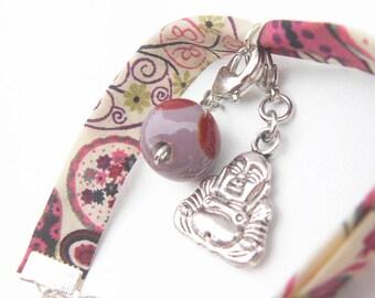 Multicolor floral fabric bracelet jewelry