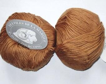 Merino wool yarn fifty 5 caramel 110