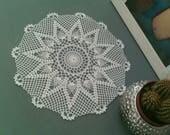 Napperon crochet blanc étoilé lot de deux