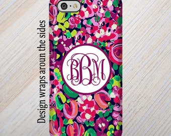 iPhone 7 Case, iPhone 8 Case, iPhone 8 Plus Case, iPhone X Case, iPhone 6 Plus Case, Monogram Case, Lilly Pulitzer Inspired, Galaxy S8 Case