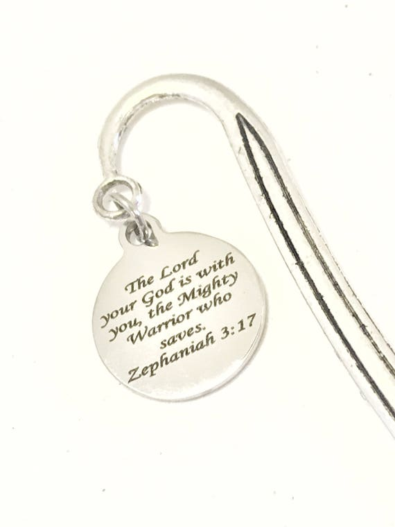 Bible Bookmark, Bible Verse Gift, Scripture Bookmark, Christian Planner Bookmark, Bible Gifts, Zephaniah 3 17 Bookmark, The Lord Is With You