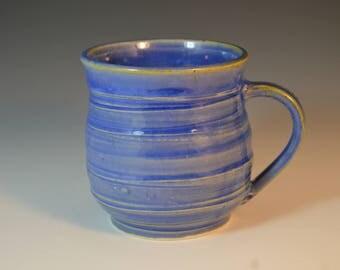 Blue Ceramic Mugs / 12oz Mug / Pottery Mug / Coffee Mug / Ceramic Mug / Blue Pottery / New Home Gift