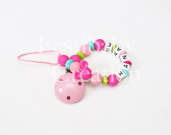 """Pacifier clip personalized silicone beads - model """"Hall"""""""