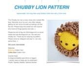 Pattern: Chubby Lion (Digital PDF File)