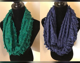 Ruffle Infinity Scarves