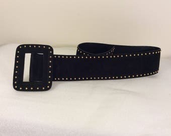 Vintage Escada studded suede belt