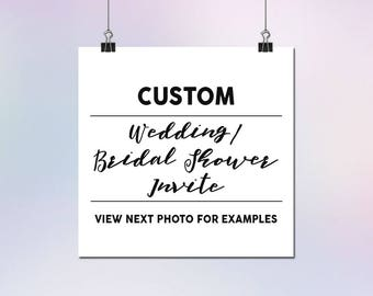 Custom Wedding or Bridal Shower Invitation